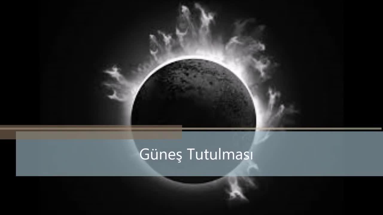 Güneş Tutulması Izle Video Eğitim Bilişim Ağı
